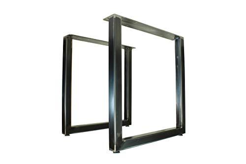 Metal Table Legs – U Style – Rustic Industrial Finish