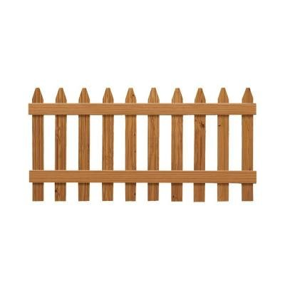 3 ft. x 6 ft. Pressure-Treated Cedar-Tone Moulded Fence Kit