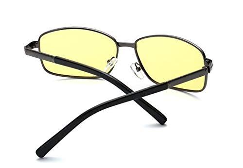 Mode Lunettes Polarisées de Soleil Lunettes Vision Femmes Jaune Yellow Hommes UV400 Nocturne FlowerKui Lunettes Protection de ztq4I