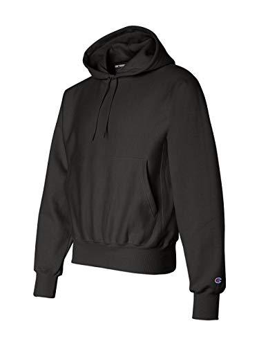Champion Men's Men' Reverse Weave Fleece Pullover Hoodie, Black, ()