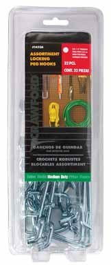 Crawford Peg Hooks Assortment Medium ()