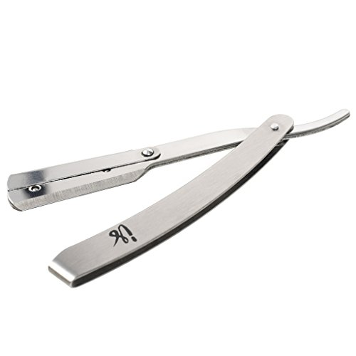 Classic Look Classic Belt (Professional Barber Razor - Stainless Steel Straight Edge Razor - 10 Count Blades – Easy to Use – Classic Style for Extra Clean)