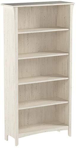 Bush Furniture Salinas 5 Shelf Bookcase in Antique White by Bush Furniture (Image #7)