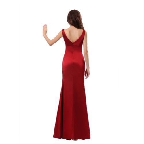 da Rosso sera Line Cocktail da abito Sweet abito abiti Sunvary A Organza S4wYFPq4O