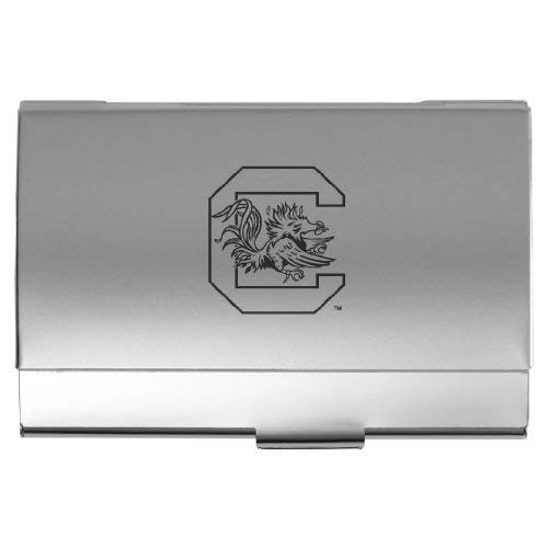 (LXG, Inc. University of South Carolina - Two-Tone Business Card Holder - Silver)