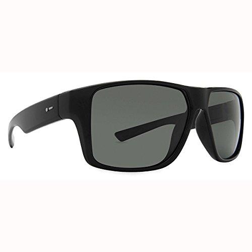 Dot Dash Mens Turbo Sunglasses Black Satin/Grey - Dash Sunglasses Dot
