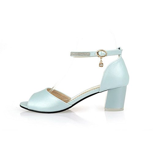 BalaMasa Girls Glass Diamond Fashion Soft Material Sandals Blue JtPiI