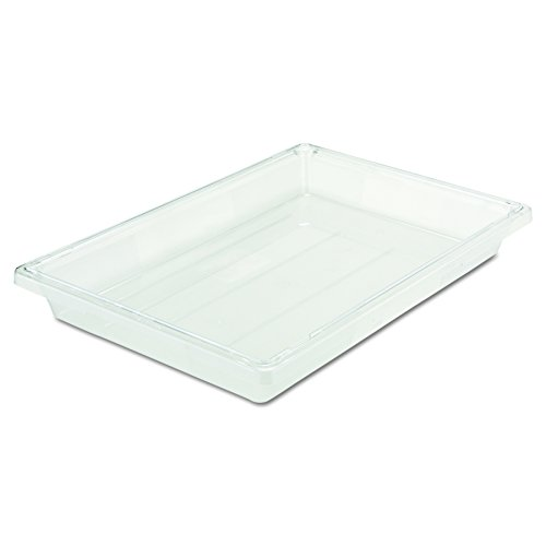 Rubbermaid Commercial Plastic 5-Gallon Food Box, Clear, FG330400CLR Polycarbonate Food Tote Box