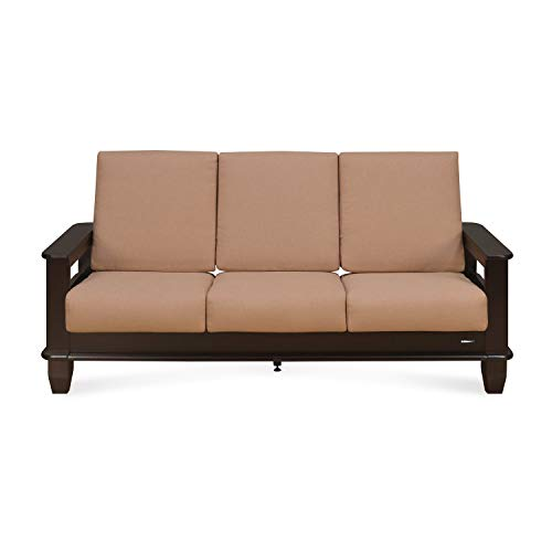 Nilkamal Manhattan 3 Seater Fabric Sofa Beige