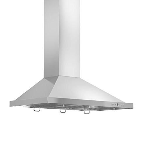 Z Line KB-30 30″ 760 CFM Wall Mount Range Hood, Stainless-Steel