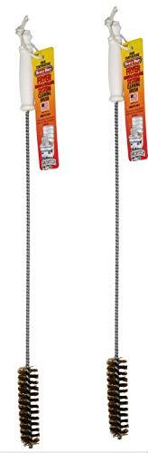 Brushtec B53C L Shape, 2 Pack, High Temperature Deep Fryer Cleaning Brush, Metal Bristles, Pack of 2
