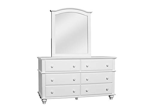 Cottage Creek Abacoa Wood Bedroom Six Drawer Dresser | White