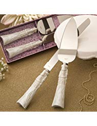 Fashion Craft 2476 Fairytale design/Cinderella themed stainless steel Cake cutter and knife set One Size White by Fashioncraft (Image #1)