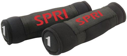 SPRI Soft Hand Weights - Pair, 1-Pound