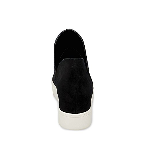 Madden Black Steve Women's Suede Sneaker Wrangle 8wwOd4q