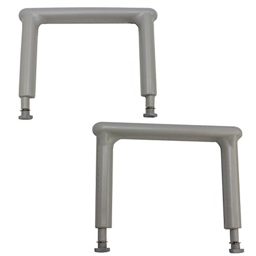Armrest Set (71002) - [Pair] - for 55-series and 56-series Transfer Benches and Shower Chairs, and Toilet-to-Tub Transfer Benches (77963/77983/77993) - Eagle Health Supplies by Eagle Health Supplies