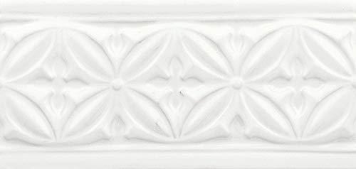 Tile Circle White Snow Ceramic Petal Decorative Accent 4
