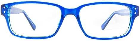 Retro Eyeworks Sunset Bifocal Anti-glare Reading Glasses 52-18 MM 2.5x Blue