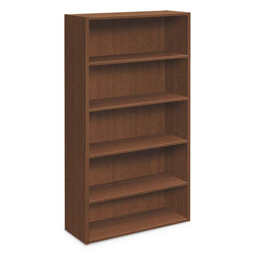 The Hon HLM65BC.F Foundation Bookcases, 32.06w X 13.81d X 65.38h, Shaker - Bookcase Hon Cherry