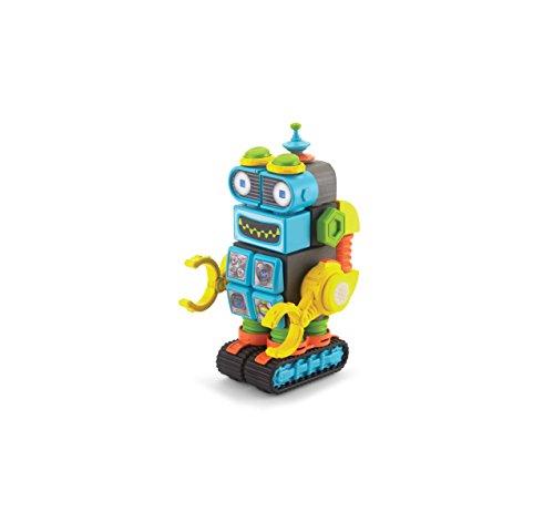 (Velcro Kids VELCRO Brand BLOCKS | STEM Toy | Building Blocks, Lightweight Foam | 28 Piece, Robot, Age 3+ [Packaging May)