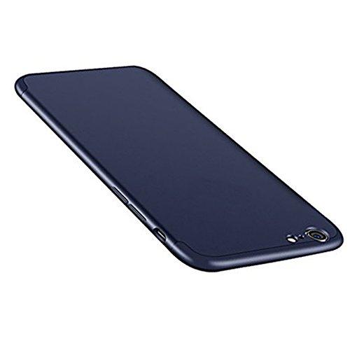 Vanki? Custodia iPhone 6 6S , 360 Gradi della copertura completa 3 in 1 Hard PC Case Cover Stilosa Protettiva Bumper Antiurto Antigraffio Posteriore Copertura per iPhone 6/6S Blu