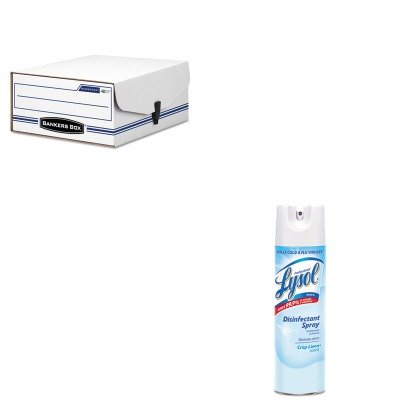 KITFEL48110RAC74828CT - Value Kit - Bankers Box Liberty Binder-Pak Storage Box (FEL48110) and Professional LYSOL Brand Disinfectant Spray (RAC74828CT) ()