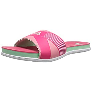 adidas Performance Women's Supercloud Plus Slide W Athletic Sandal,White/Frozen Green/Super Pink,10 M US