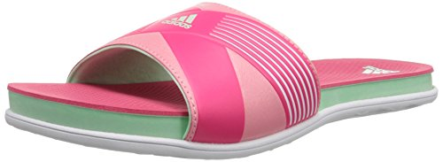 adidas Performance Women's Supercloud Plus Slide W Athletic Sandal,White/Frozen Green/Super Pink,10 M US