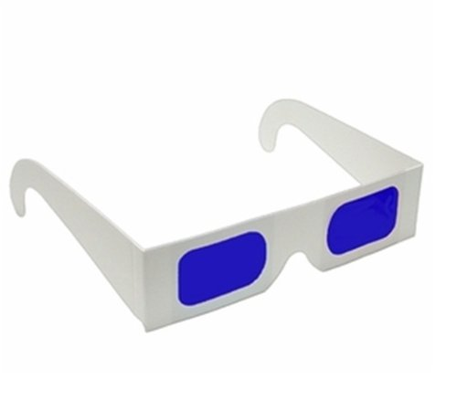 Decoder Glasses for Sweepstakes and Prize Giveaways-Blue/Blue-White Frame-Pack of 5