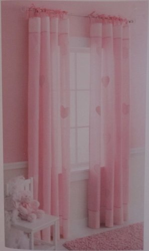Circo Pink Heart Window Panel, Curtain, Drape