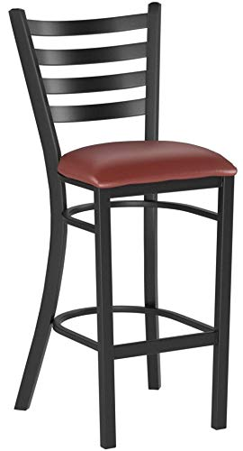 Flash Furniture HERCULES Series Black Ladder Back Metal Rest
