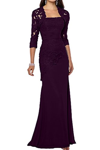 VaniaDress Women Long Mother Of The Bride Dress With Jacket Formal Gowns V263LF Plum US14 from VaniaDress