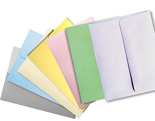 Pastel Color Selection 50 Boxed A7 (5-1/4 x 7-1/4) Envelopes for 5 X 7 Cards Invitations Announcements from The Envelope Gallery