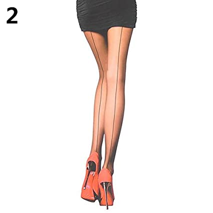 8defb39cb7c Image Unavailable. Image not available for. Color  Bingo Point Sexy Women s  Ultra Sheer Transparent Line Back Seam Tights Stockings Pantyhose