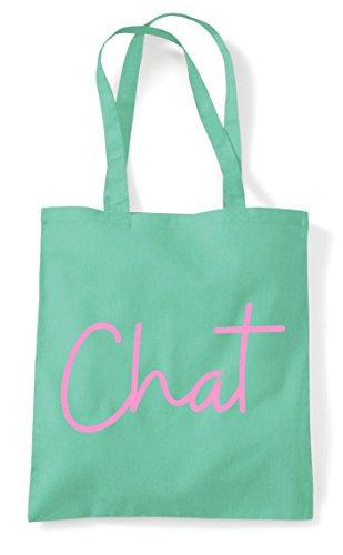 Shopper Hashtag Quote Mint Statement Chat Bag Tote XfwUxq5