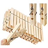 JMARK JM Bamboo Cloth Drying Clips, Beige -40 Pieces