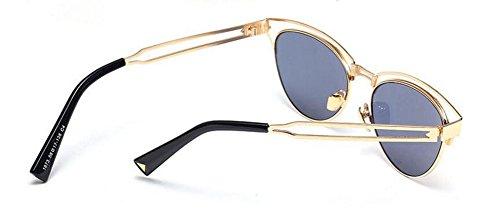 soleil rond polarisées cercle métallique en de style vintage retro Or Local inspirées du lunettes Lennon 451xTqT