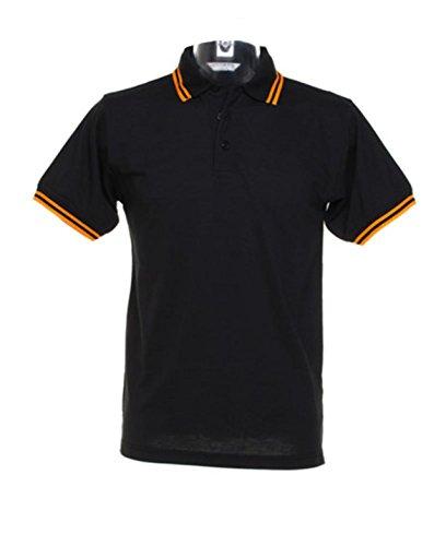 Kustom Kit - Polo - para hombre negro/naranja