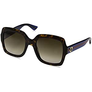 Gucci Women GG0036S 54 Tortoise/Brown Sunglasses 54mm