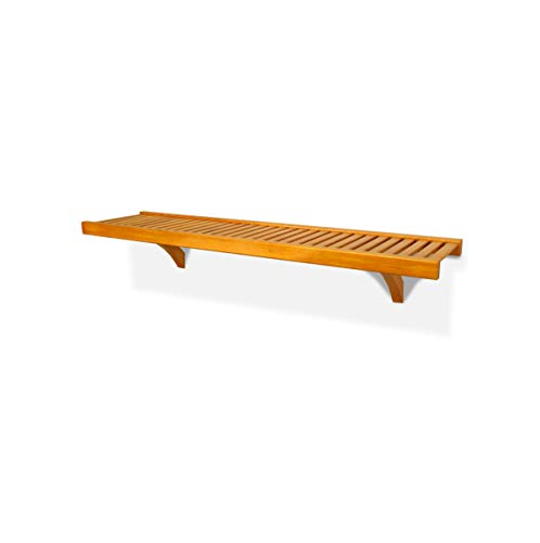 John Louis Home 12in. Deep 4ft. Shelf Kit - Honey Maple Finish