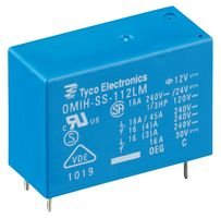 RELAY, SPST-NO, 250VAC, 30VDC, 16A OMIH-SS-124LM,300 By TE CONNECTIVITY / OEG 300-TE CONNECTIVITY / OEG