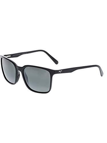 (Maui Jim Wild Coast 756-02H | Midnight Black Classic Frame Polarized Sunglasses |, Neutral Grey Lenses, Patented PolarizedPlus2 Lens Technology)