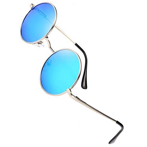 Soleil Cercle Ice Silver Hommes Ronde Lens Lunettes Outdoor Métal Cadre Frame Polarized Blue En Providethebest Femmes De Résine Uv400 Lentille 4IgwRq