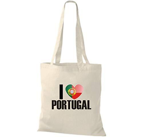 Algodón Países Tela Portugal Bolsa Love I Shirtinstyle De Land Países Natural wxHnU