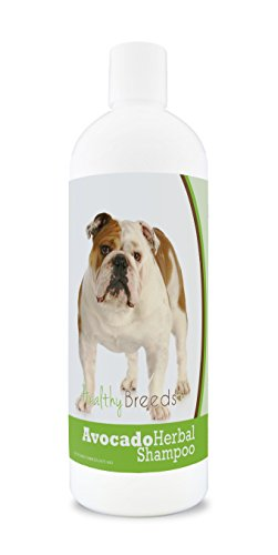 Healthy Breeds Herbal Avocado Dog Shampoo for Dry Itchy Skin for Bulldog  - OVER 200 BREEDS - For Dogs with Allergies or Sensitive Skin - 16 oz