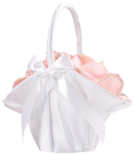 Lillian Rose Elegant Large Satin Flower Girl Basket (Elegant Baskets)