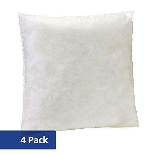 AmazonBasics Pillow Insert - 16-Inch Square, 4-Pack