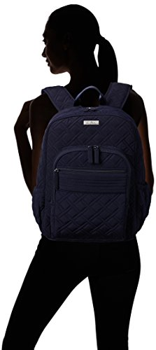 Women's Campus Tech Backpack, Microfiber, Classic Navy by Vera Bradley (Image #4)