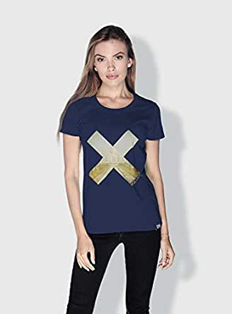 Creo India X City Love T-Shirts For Women - M, Blue
