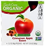 Santa Cruz Applesauce Pouch Cinn 4pk